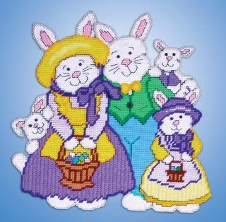 Bunny Family Plastic Canvas Kit