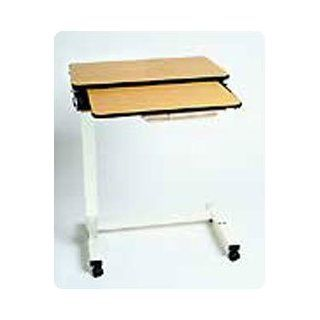 Executive Split Top Overbed Table Quartered Oak Split Top   Model 920523 Health & Personal Care