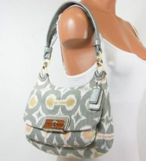 Coach Kristin Ikat Hippie Shoulder Convertiable Hobo Bag Purse Tote 17083 Grey Clothing