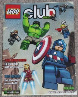 Lego Club Magazine, May   June 2012 Featuring LEGO SUPER HEROES and NINJAGO AMBUSH! COMICS; Monsters Search & Find Game; Trivia Quiz Contest; Also Creator, Cool Creations, LEGO Star Wars, LEGO City, Hero Factory and Minifigures; Free Child Ticket to LE