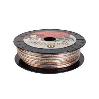 Raptor S14 100 100 feet 14 Gauge Speaker Wire (Clear)  Vehicle Speaker Wire