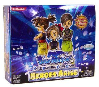 Blue Dragon RPCG Role Playing Card Game Heroes Arise Booster Box (24 Packs) Toys & Games