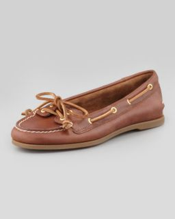 Sperry Top Sider Audrey Classic Leather Boat Shoe, Tan
