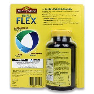 Nature Made Triple Flex, Glucosamine 1500 mg, Chondroitin 800 mg, MSM 750 mg, 120 Caplets Health & Personal Care
