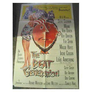 BEAT GENERATION/ ORIGINAL U.S. ONE SHEET MOVIE POSTER (MAMIE VAN DOREN) MAMIE VAN DOREN Entertainment Collectibles