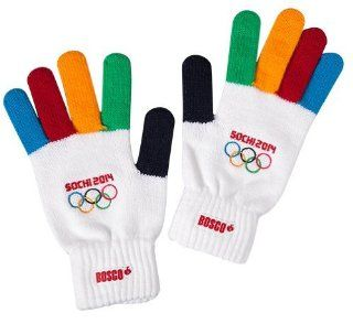 Gloves Official Merchandise Winter Olympic Games Sochi 2014 Bosco Sport New (Children size 4 6 yrs)  Sports & Outdoors