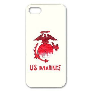 USMC marine corps logo anchor eagle design Iphone 5/5S hard plastic case: Cell Phones & Accessories