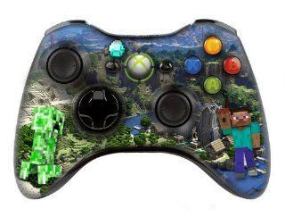 "Xbox 360 controller (modded), "" Minecraft "" skin , Three additional modes (10 Modes Dual Rapid Fire + Fast Aim Mode (quick scope) + Central Button Light) Wireless Original Microsoft controller ,works Best with MW1.2.3 , COD , BATTLEFIELD , HALOCo"