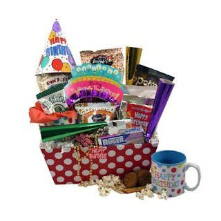 Diabetic Birthday Wishes Gift Basket : Gourmet Gift Items : Grocery & Gourmet Food