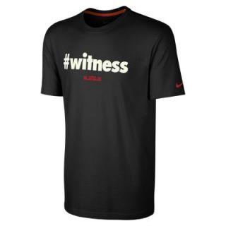 Nike LeBron #witness Mens T Shirt   Black
