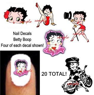 Betty Boop 5 Different Nail Decal Art Total 20: Everything Else