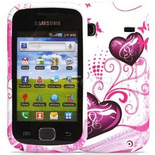 Ecell   RED HEARTS SILICONE CASE FOR SAMSUNG GALAXY GIO S5660: Cell Phones & Accessories
