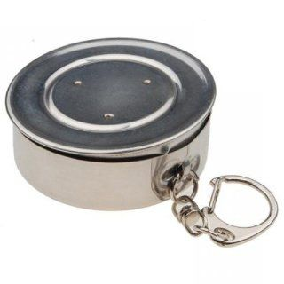 EK Stainless Steel Travel Camping Hiking Folding Collapsible Cup with A Lobster Clip, Either on Your Belt Loop, Backpack or Jacket : Collapsable Pots Pans : Sports & Outdoors