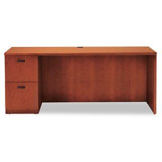 HON Products   HON   Park Ave Veneer Left Pedestal Credenza, 72 x 24 x 29 1/2, Henna Cherry   Sold As 1 Each   Luxury and style for executive offices.   High quality wood veneer with a handsome finish.   Full extension locking drawers operate on whisper qu