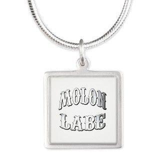 Molon Labe Silver Square Necklace by frankopinions
