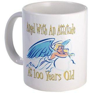 Angel Attitude 100th Mug by littletuddler