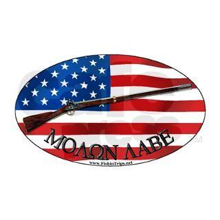 Molon Labe Musket Oval Sticker by Admin_CP10482341
