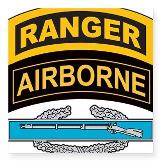 CIB with Ranger/Airborne Tab Rectangle Sticker by Admin_CP439612