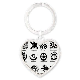 West African Strength Symbols, Andi Heart Keychain by ADMIN_CP112947994