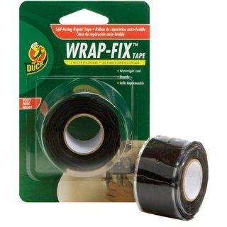Duck Brand 442055 Wrap Fix Repair Tape, 1 Inch by 10 Feet, Single Roll, Black   Tape Reels