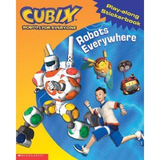 Robots Everywhere! (vinyl Sticker Book) (Cubix): Tracey West: 9780439352512: Books