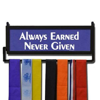 RunnersWALL Always Earned Never Given Medal Display   Purple : Sports Related Display Cases : Sports & Outdoors