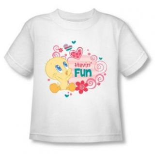 Looney Tunes   Tweety Pie Having Fun Toddler T Shirt T Shirt Clothing