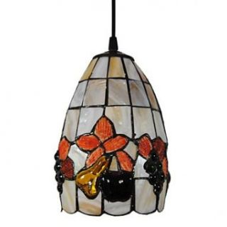 40W Artistic Tiffany Pendant Light with Stained Glass Shade in Fruit Design   Chandeliers