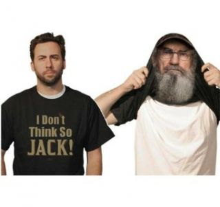 Duck Dynasty Uncle Si Reversible Mask Costume T Shirt (small): Clothing