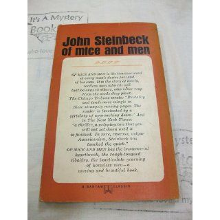 Of Mice and Men (A Bantam Classic): John Steinbeck: Books