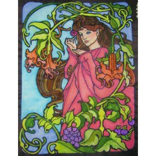 Tiffany Designs Stained Glass Coloring Book (Dover Design Stained Glass Coloring Book) A. G. Smith 9780486267920 Books