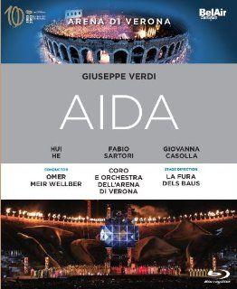 Verdi: Aida [Blu ray]: Omer Meir Wellber, Giovanna Casolla, La Fura dels Baus, Hui He, Fabio Sartori, Ambrogio Maestri, Andy Sommer: Movies & TV