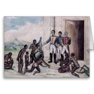 Liberation of Slaves by Simon Bolivar Cards