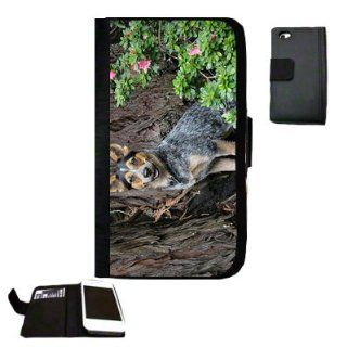 blue healer dog Fabric iPhone 4 Wallet Case Great Gift Idea: Cell Phones & Accessories