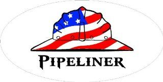 "3   Pipeliner Hard Hat / Helmet Stickers 1 1/2"" x 3"" H244 Automotive"
