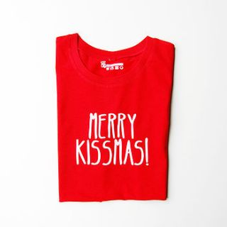 merry kissmas christmas t shirt by tee and toast