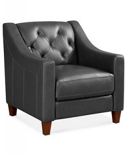 Claudia II Leather Living Room Chair, 31 W x 35D x 33H   Furniture