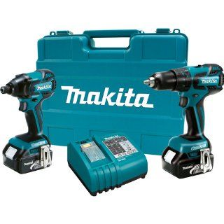 Makita LXT239 18 Volt LXT Lithium Ion Brushless Cordless 2 Piece Combo Kit W/ 2 Batteries   Power Tool Combo Packs