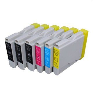 6 Pack Compatible Brother LC 51 , LC51 3 Black, 1 Cyan, 1 Magenta, 1 Yellow for use with Brother DCP 130 C, DCP 135 C, DCP 150 C, DCP 330 C, DCP 350 C, DCP 540 CN, FAX 1355, FAX 1360, FAX 1460, FAX 1560, FAX 1860 C, FAX 1960 C, FAX 2480 C, MFC 230 C, MFC 2