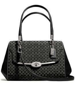COACH MADISON SMALL MADELINE EAST/WEST SATCHEL IN OP ART NEEDLEPOINT FABRIC   COACH   Handbags & Accessories