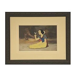 Disney Snow White ''Smile For Me'' LE Framed Sericel Over Lithograph Background   Prints
