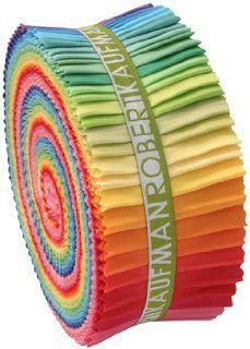 Robert Kaufman Kona Cotton Solids New Bright Palette Jelly Roll Up, Set of 41 2.5x44 inch (6.4x112cm) Precut Cotton Fabric Strips