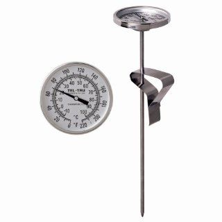 Tel Tru LT225R Deep Fry Fat/Candy Thermometer, 2 inch dial, 8 inch stem, 50/500 degrees F Kitchen & Dining