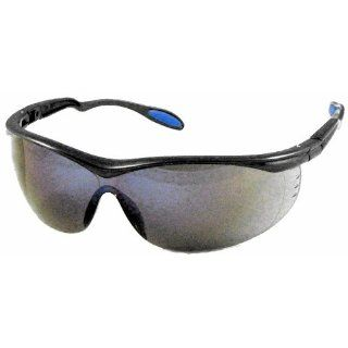US Safety U92224 Columbia 222 Panascopic Safety Glasses with Ratchet Temples, Blue Mirror Lens, Slate Frame (Box of 12) Industrial & Scientific