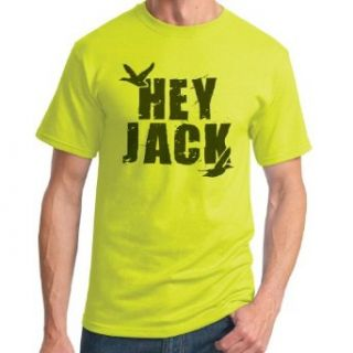 Duck Dynasty 'Hey Jack' Safety Green T Shirt: Clothing