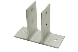 "2 Ear Urinal Screen Bracket 1"" Clear Anodized   Hardware Brackets"