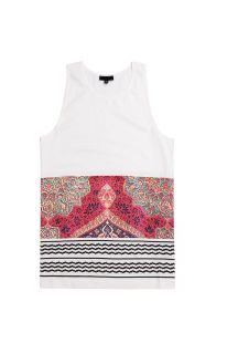 Mens Black Scale Tank Tops   Black Scale Holy Land Tank Top