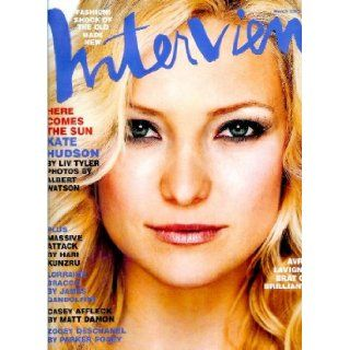 Interview Magazine   March 2003   Kate Hudson cover: Ingrid Sischy: Books