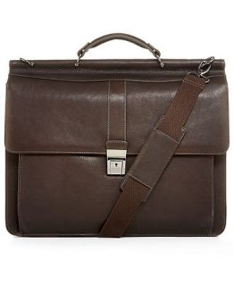 Kenneth Cole Reaction Leather Colombian Dowel Rod Laptop Brief   Business & Laptop Bags   luggage