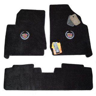 Cadillac SRX Ebony Floor Mats w/ Silver Crest Logo 2010 2011 & 2012 2013 2014 Automotive